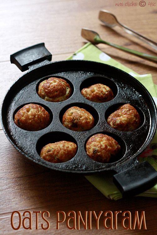 Oats Kuzhi Paniyaram / Oats Ponganalu   4th Sense Cooking