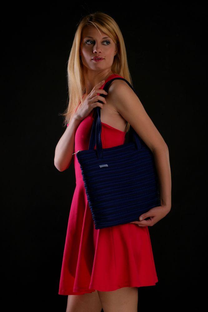 Borsa Amira-bag color blu navy