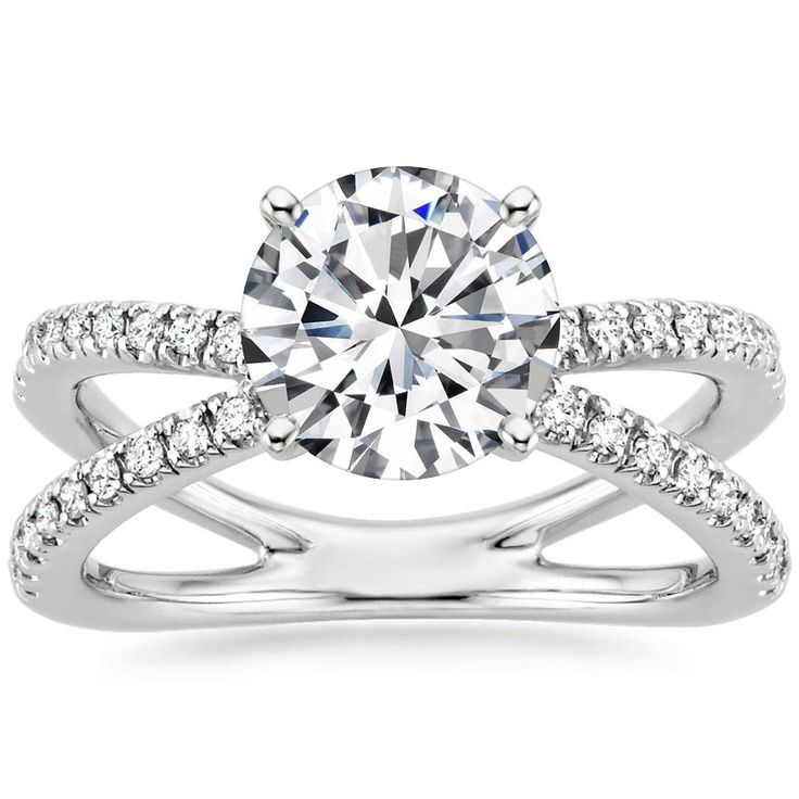 18K White Gold Bisou Diamond Engagement Ring from Brilliant Earth