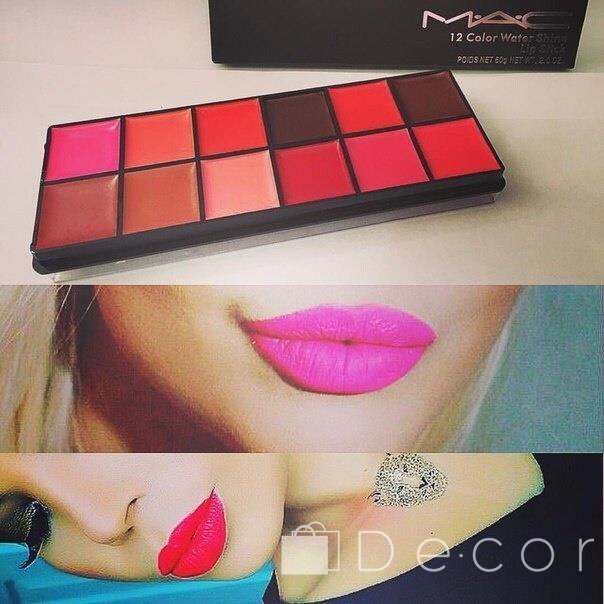 Профессиональная палитра помад для губ MAC 12 Color Water Shine Lipstick.Цена:199.00 грн. ЗАКАЗЫВАЙТЕ НА САЙТЕ:http://de-cor.com.ua/shop/pomada/   #украинакупить #косметикаизевропы #косметика #косметикалюкс #косметикавналичии #косметикаизамерики #косметикадлялица #decorcomua #косметикакиев #косметикадляглаз #косметикакупить #косметикамак #косметикадляженщин #косметикасша