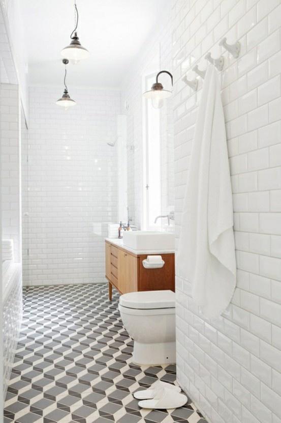 great variation on white bathroom