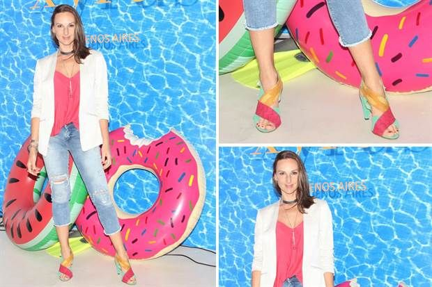 Ohlaleando: mirá lo que se pusieron Pampita Ardohain y Lucía Celasco  Catarina Spinetta pasó a conocer la nueva colección de trajes de baño de Xyrus.         Foto:gentileza prensa