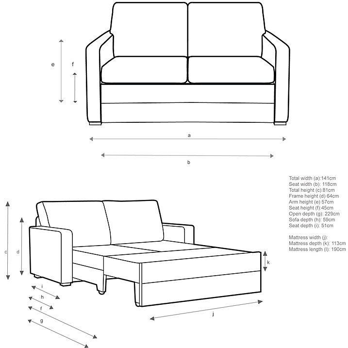 Buy John Lewis Siesta Sofa Bed with Foam Mattress, Fraser Apple Online at johnlewis.com