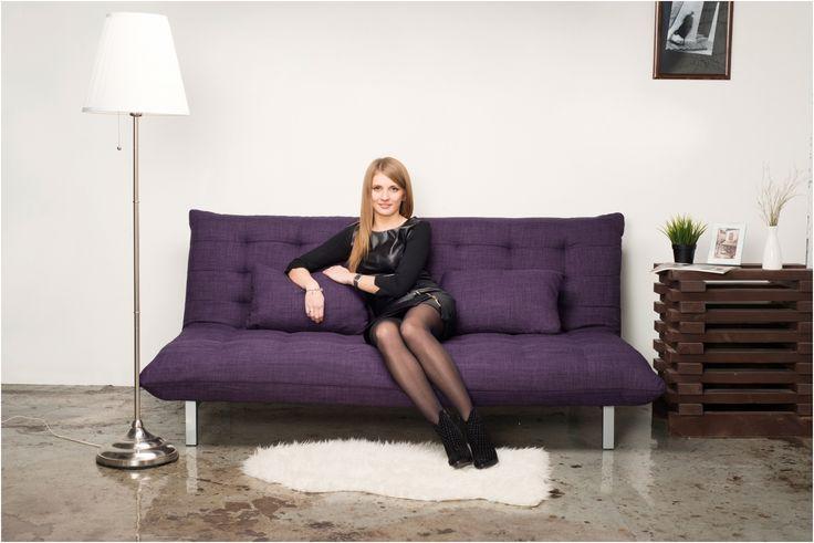 Диван-кровать ANZOLI Felicia (ткань), фиолетовый купить по цене 22090 руб в интернет-магазине Enter.ru. Диван-кровать ANZOLI Felicia (ткань), фиолетовый характеристики, отзывы, и фото