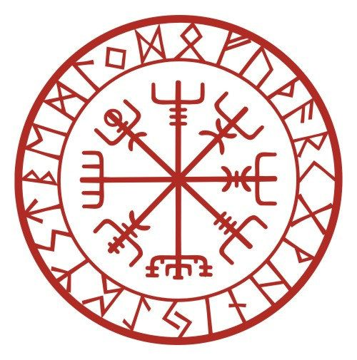 Viking protection runes vegvisir compass talisman by sparrowhawk9, $3.75