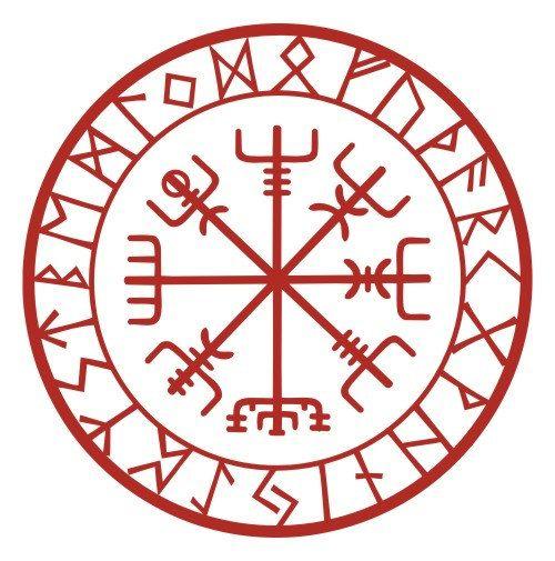 Diese Rune ist bekannt als Vegvisir, Isländisch für Wegweiser und manchmal auch als der Viking-Kompass. Diese magischen Charme soll Führer den Weg zu helfen, ohne verloren zu gehen. Dies ist umgeben von allen 24 Zeichen des älteren Futhark.  Diese Aufkleber misst 3 1/2(8,89 cm) im Durchmesser und aus einem roten Zeichen Qualität Vinyl mit einer siebenjährigen Außeneinsatz auf einer vertikalen Oberfläche garantiert ist schneiden (wobei kein Hintergrund). Bei sachgemäßer Anwendung sollte dies…