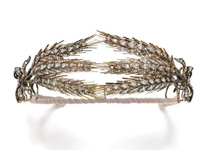 Lotto 166 - Un attraente grano diamante covone tiara, Seconda metà del 19 ° secolo