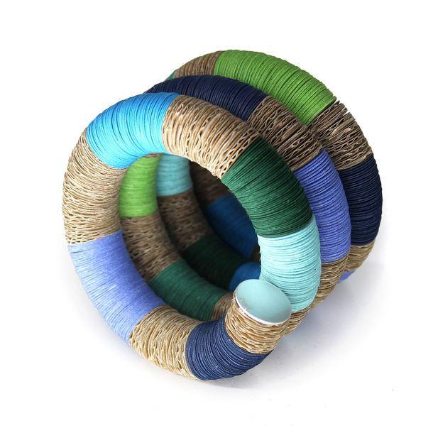 Cardboard Paper Bracelet Multi Color.