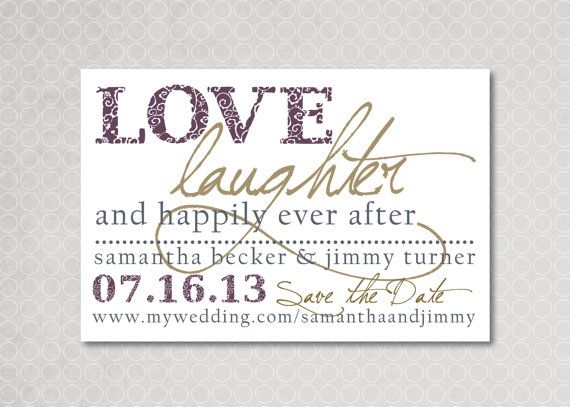 For my mom to see: Modern Save the Date Magnet or Card  Happily Ever by PinchOfSpice, $15.00
