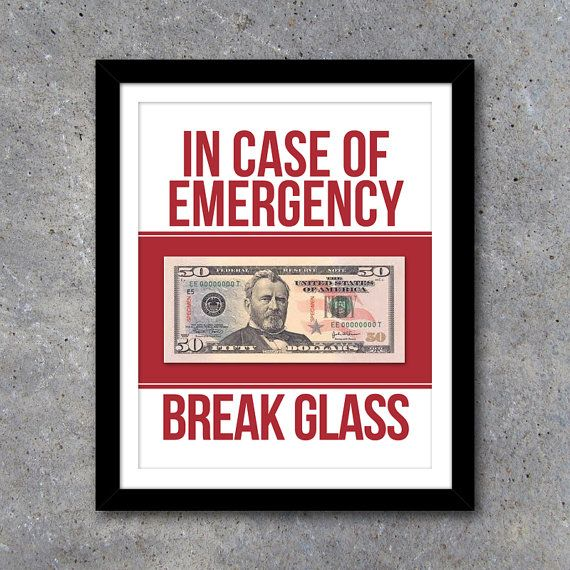 Break Glass In Case Of Emergency Coffee