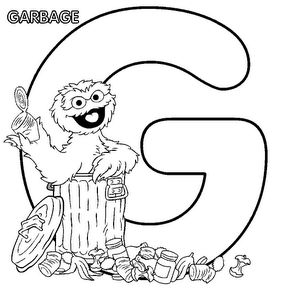 Oscar the Grouch Cartoon | is for Pickle Oscar the Grouch Coloring Page for print