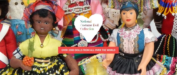 Our website shows national costume dolls from all over the world