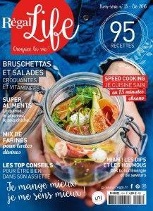 Toujours à l'affût des dernières nouveautés en matière de livres et magazines de cuisine healthy, j'ai été ravie de découvrir récemment lemagazine de cuisine Régal Life - hors-série du magazine de cuisine