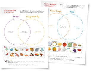 Free Venn diagram worksheets to introduce children to advanced sorting