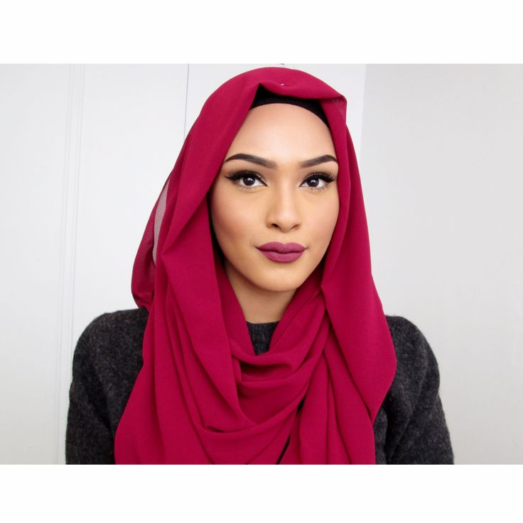 Hijab Tutorial: Red Rose