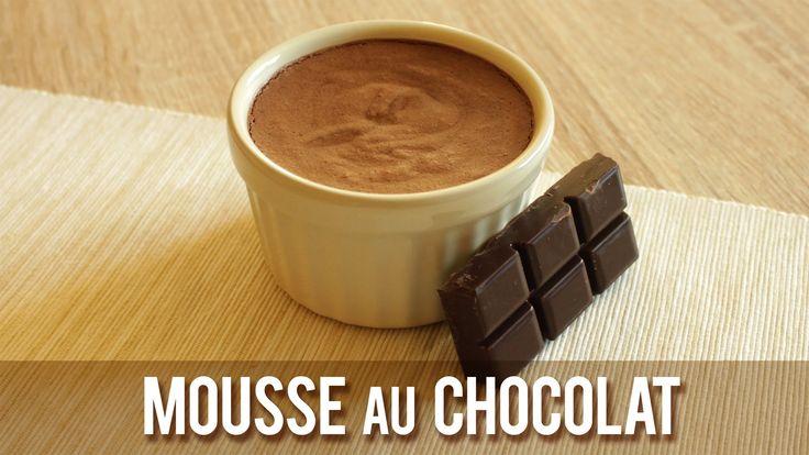 MOUSSE AU CHOCOLAT    Sans Oeuf, ni Lait, ni Soja    ( Vegan )