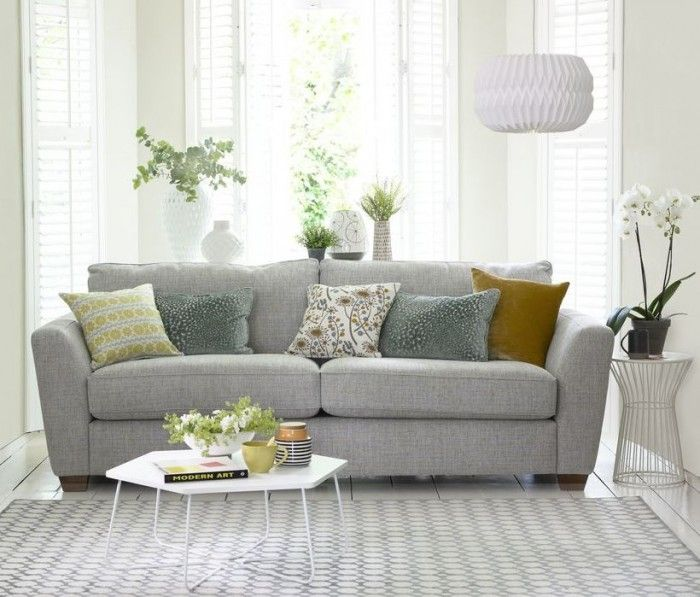 This exciting new addition to the House Beautiful DFS sofa collection combines sophisticated style with ultimate comfort. Styling: Hannah Deacon. Photography: David Brittain