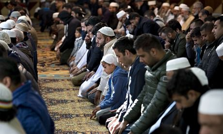 "British Muslims unite in fury at Isis murder of Alan Henning ... Julie Siddiqui, former head of the Islamic Society of Britain, said her mosque in Slough, Berkshire, was packed on Saturday morning with 900 people ""appalled"" at the murder. ""Everybody is sickened by this,"" she said. (Image: Muslims pray for murdered aid worker Alan Henning in Manchester central mosque. Photograph: Oli Scarff/AFP/Getty Images"
