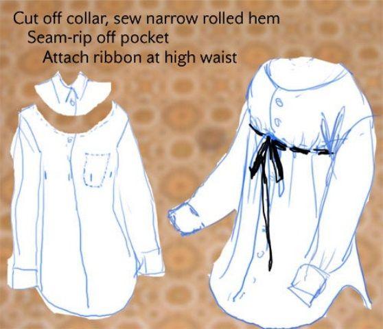 Chemise d'homme réinventée
