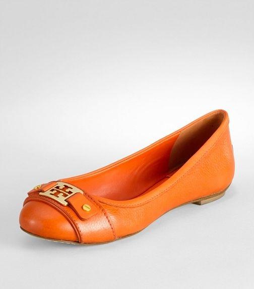 orange!: Tory Burch Flats Orange, Fall Games, Poppies Red, Orange Tory, Ut Football, Retro Shoes, Ballet Flats, Toryburch, Orange Flats