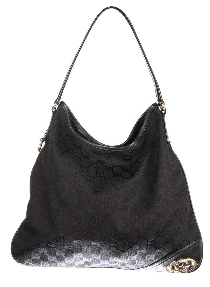 71b3c7c4c917 GUCCI Black Monogram Canvas New Britt Hobo Bag #fashion #clothing #shoes  #accessories