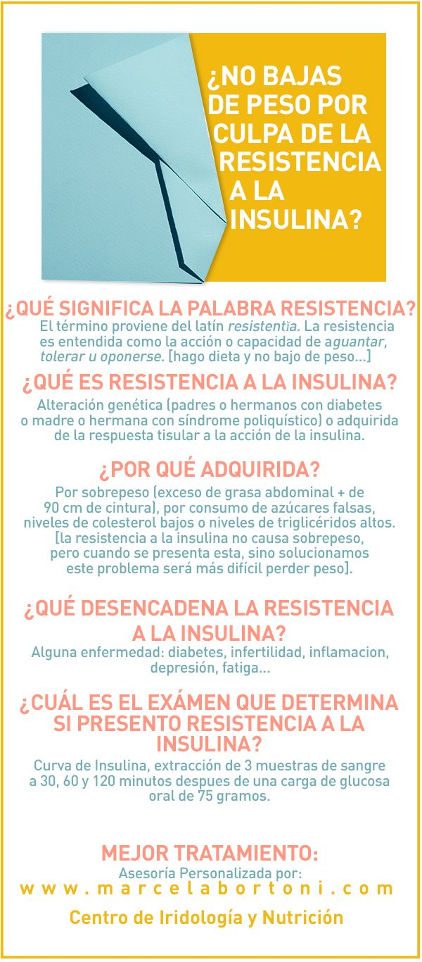 ¿No bajas por culpa de la resistencia a la insulina?