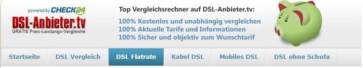 Verschenken Sie keinen Cent zuviel an die DSL-Anbieter! Sie können jetzt einfacher als je zuvor das günstigste DSL-Angebot finden und Geld sparen. Nutzen Sie hierzu die kostenlosen DSL-Vergleichsrechner auf DSL-Anbieter.tv und Sie werden mit nur wenigen Klicks, die für Sie passende Flatrate finden.
