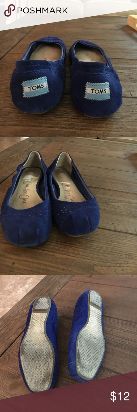 Toms Women's Ballet Flats Used Toms Women's Ballet Flats Cutout Blue Moroccan Casual Shoe TOMS Shoes Flats & Loafers