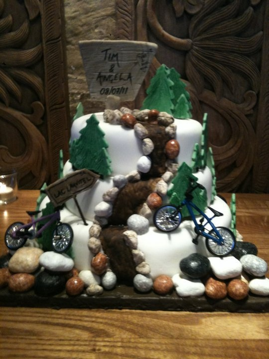 """Bike Cake - for those """"kids"""" who are taking mountain biking to a whole new level in their mid-life!"""