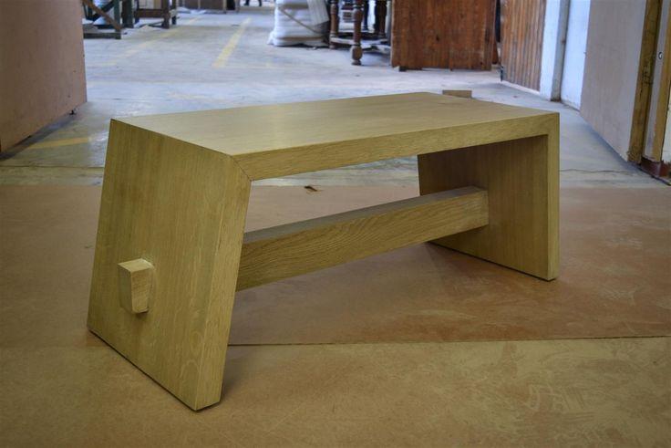 Custom design French Oak Bench by Pierre Cronje Fine Furniture