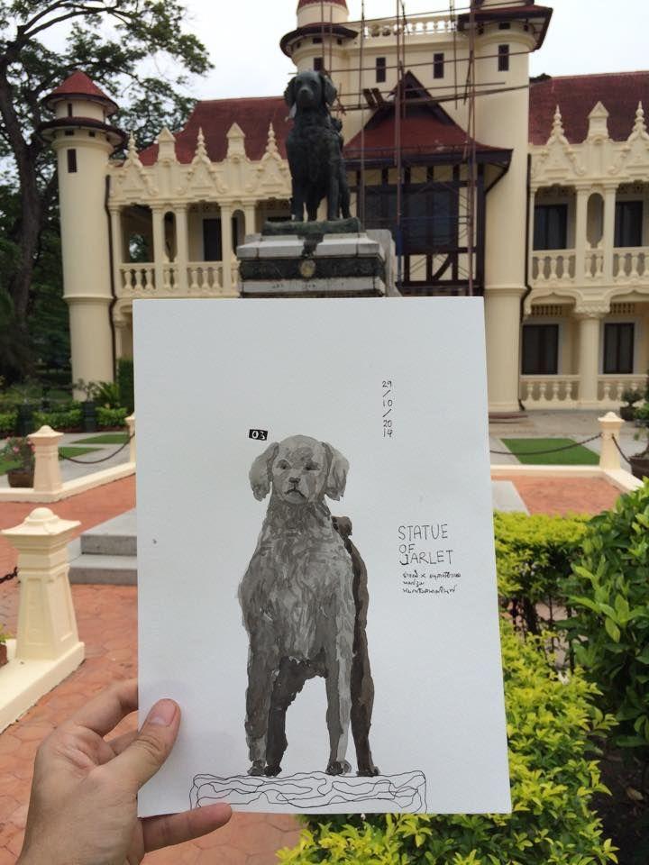 STATUE OF JARLET 01 /// SANAM CHANDRA PALACE /// NAKHON ...