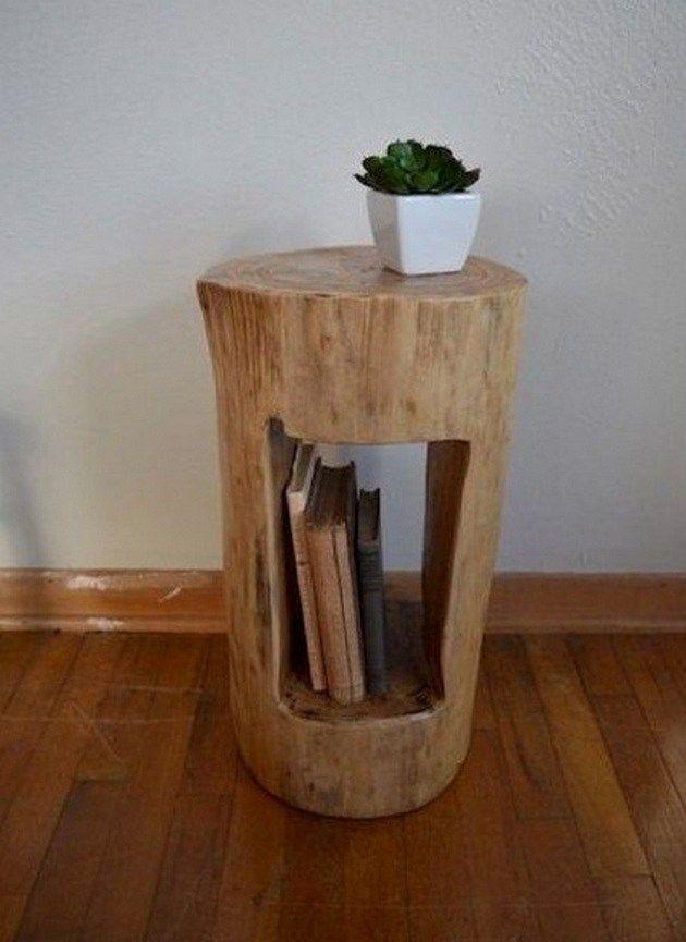 Wonderful Tree Stump Furniture Ideas