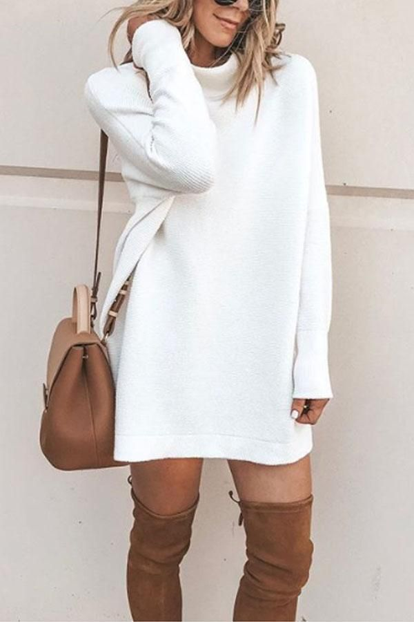 6f448613cc High Neck Plain Long Sleeve Sweaters No reviews in 2019 ...