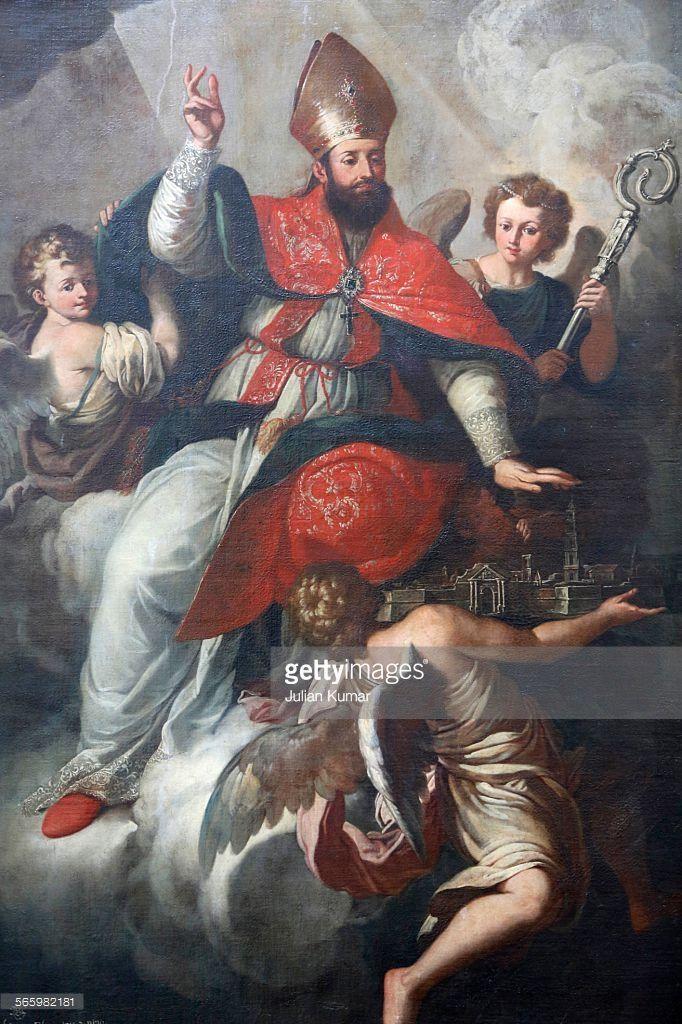 Stock Photo : Painting in Saint Matthews church : Saint Oronzo Lecce. Italy.