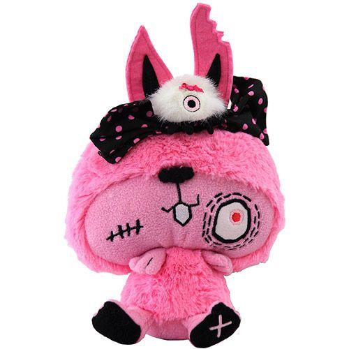 Peluche Vamplets bébé lapin gothique rose