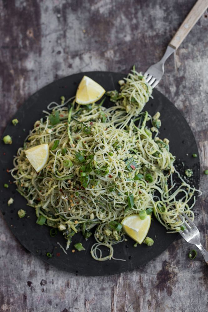 Zucchini Noodles With Thai Pesto - Cook Republic
