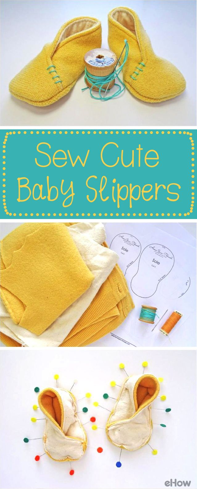 Making felt baby slippers is a rewarding project you can complete in an afternoon. Felt is simple to work with and so cute for baby. The full lining is soft and comfortable on his or her tiny tootsies. Full diy here: http://www.ehow.com/how_12343234_felt-baby-slippers-sew-cute-tutorial.html?utm_source=pinterest.com&utm_medium=referral&utm_content=freestyle&utm_campaign=fanpage
