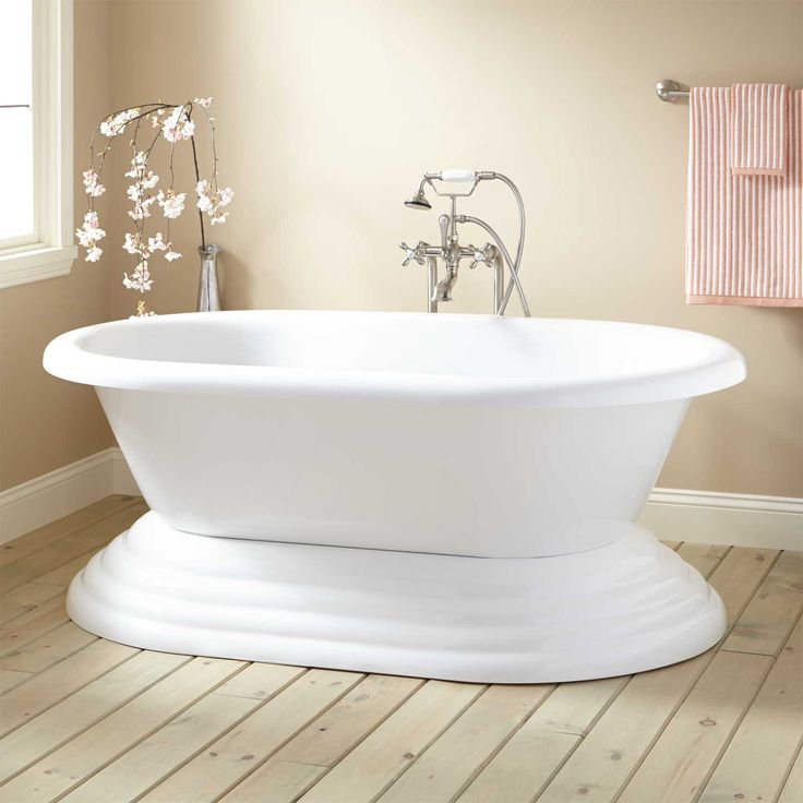 Weu0027re Doing An Estimate Now For A Master Bathroom Suite That Includes This  Barkley Acrylic Freestanding Pedestal Tub