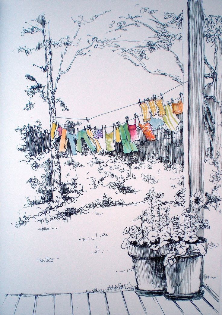 Line Art Watercolor : Best images about journaling trees landscapes on