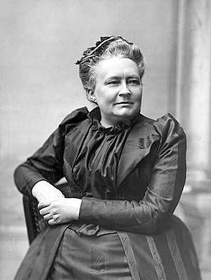 Kirjailija Minna Canth 50-vuotispäivänään vuonna 1894. Kuva: Victor Barsokevitsch