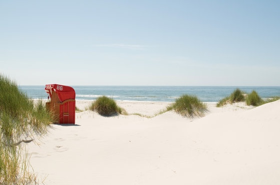 Strandkorb auf Amrum
