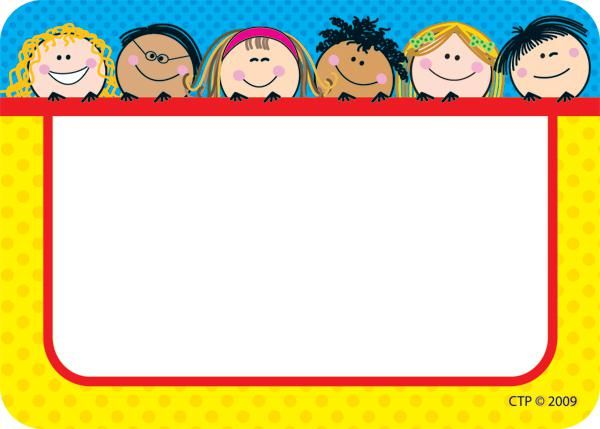 Smiling Stick Kids Name Tags | CTP4503