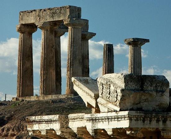 Temple of Apollo in Corinth Greece