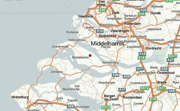 middelharnis op de kaart