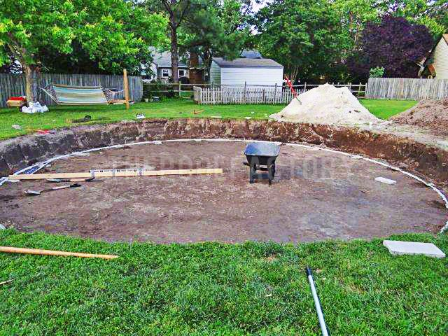 61 best images about above ground pool installation on for Above ground pool installation