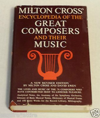 #book Milton CROSS' Encyclopedia of the Great Composers and Their Music: Volume II withing our EBAY store at  http://stores.ebay.com/esquirestore