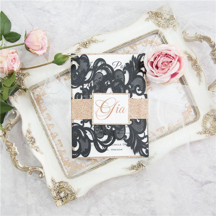 Grazia - Lace Pocket Laser cut invitation