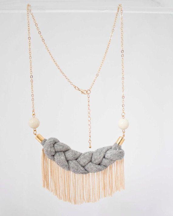 Collier Ginette  Ginette necklace par KimbDeland sur Etsy, $32.00