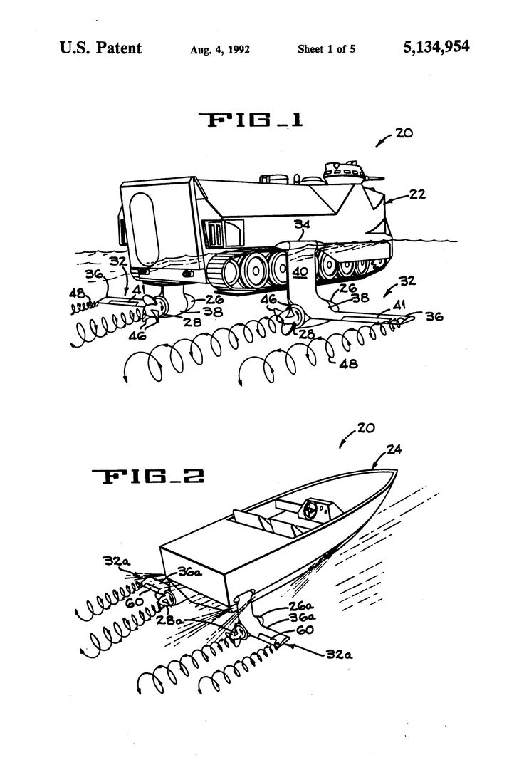Us5134954a asymmetric hydrofoil propulsion method and