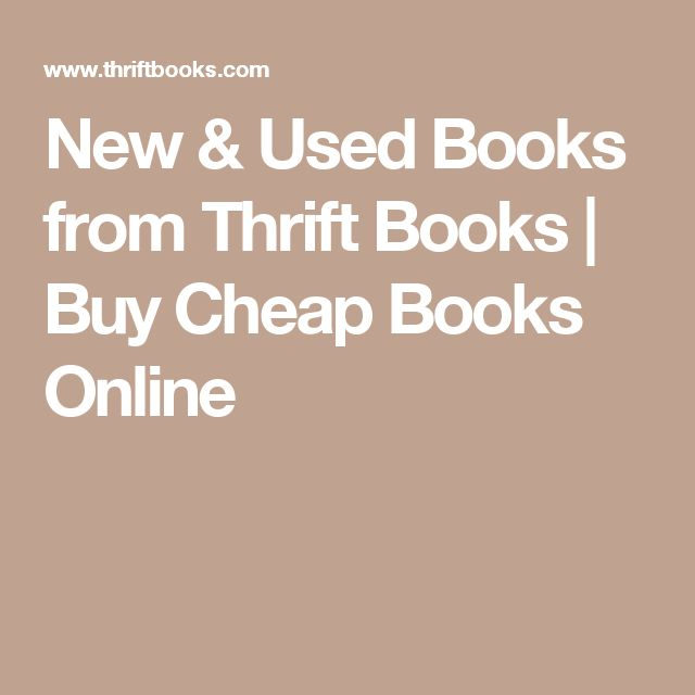 New & Used Books from Thrift Books | Buy Cheap Books Online